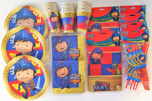 Mike The Knight Party Pack for 24 People - Medieval Party Tableware