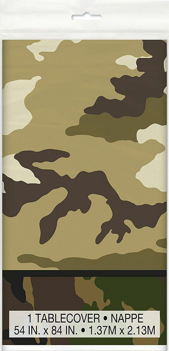 Military Camouflage Plastic Table Cover 137 x 213 cm - Army Camo Party Tableware