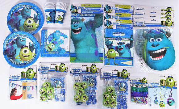 Monsters University Bumper Party Pack For 16 People - Kids Complete Party Pack