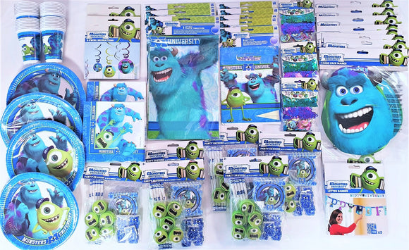 Monsters University Bumper Party Pack For 30 People - Kids Complete Party Pack