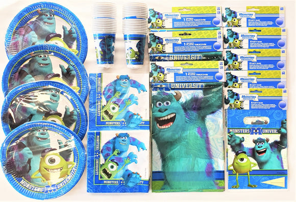Monsters University Complete Party Pack For 30 People - Disney Monsters Inc