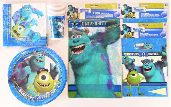 Monsters University Complete Party Pack For 8 People - Disney Pixar Monsters Inc
