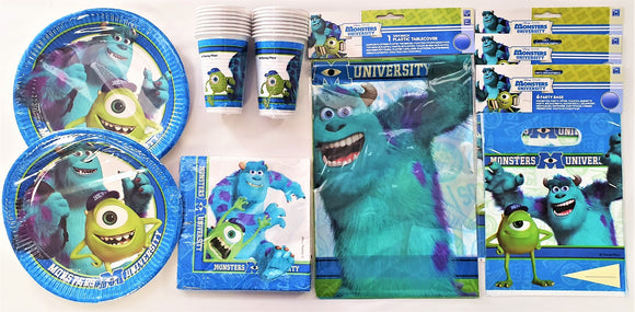 Monsters University Party Pack For 16 People - Children's Complete Party Pack