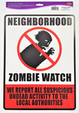 Neighborhood Zombie Watch Cutout - 43 cm x 33 cm - Halloween Party Decorations