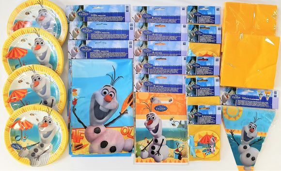 Olaf Summer Party Pack for 30 People - Disney Frozen Tableware and Decorations