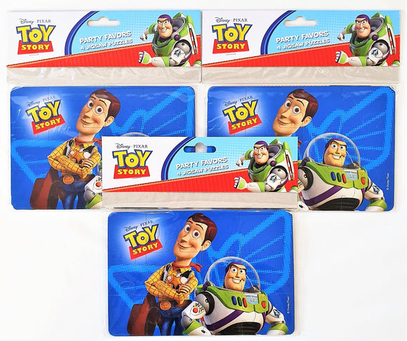 Pack of 12 Assorted Toy Story Jigsaw Puzzles - Disney Pixar Party Favours