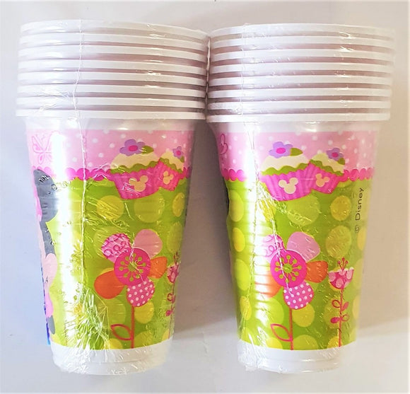 Pack of 16 Minnie Mouse Bow-Tique Plastic Cups - Disney Party Tableware Cup
