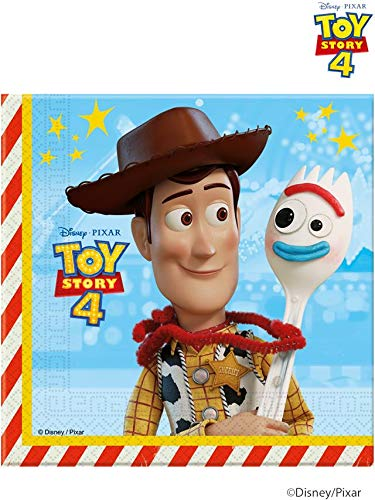 Pack of 20 Disney Pixar Toy Story 4 Luncheon Paper Napkins - Party Tableware
