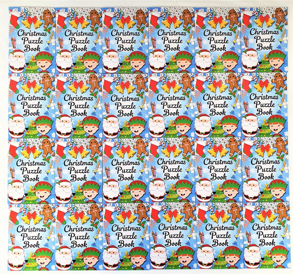 Pack of 24 Christmas Puzzle Books - Xmas Stocking Fillers - Party Favours