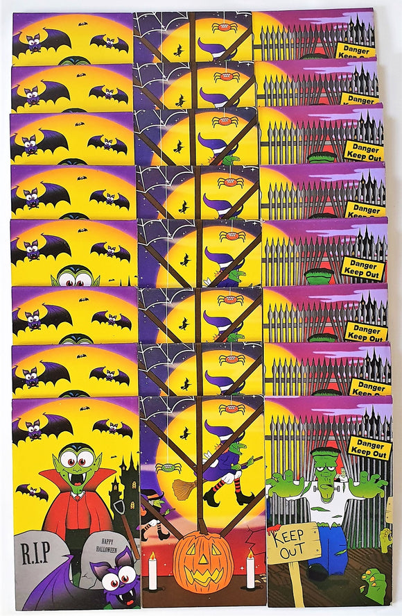 Pack of 24 Mini Halloween Notebooks - Spooky Favour Party Bag Fillers