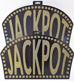 Pack of 2 Glittered Jackpot Sign Cutouts - Casino Party Wall Decorations