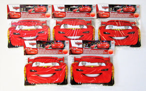 Pack for 30 Disney Cars Party Face Masks - Lightning McQueen - Piston Cup