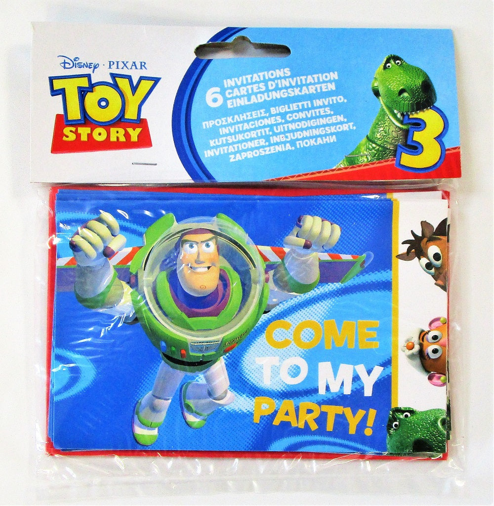 Pack Of 30 Disney Pixar Toy Story 3 Invitations And Envelopes