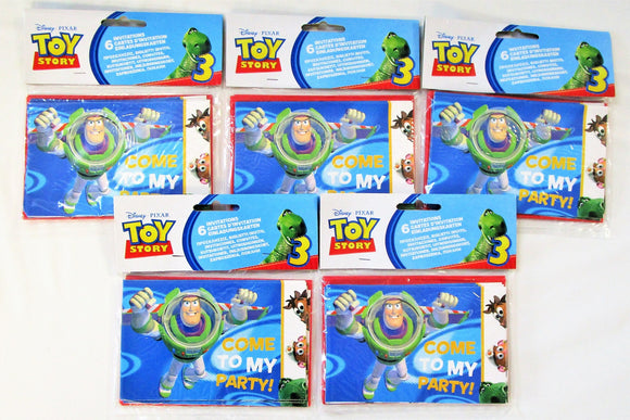 Pack of 30 Disney Pixar Toy Story 3 Invitations and Envelopes - Party Invites