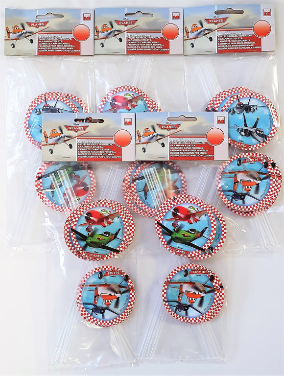 Pack of 30 Disney Planes Drinking Straws with card cutouts - Party Tableware