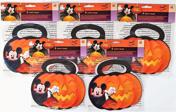 Pack of 30 Mickey Mouse Halloween Plastic Party Bags - Disney favour Bag