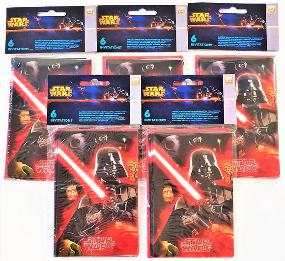 Pack of 30 Disney Star Wars Invitations and Envelopes Dearth Vader Party Invites
