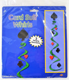 Pack of 3 Casino Card Suit Whirls Decoration - Vegas Hanging Party Decorations