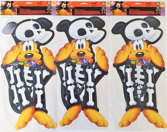 Pack of 3 Pluto Hanging Cutouts - Disney Mickey Mouse Halloween Party Decoration