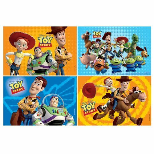Pack of 4 Assorted Toy Story Jigsaw Puzzles - Disney Pixar Party Favours