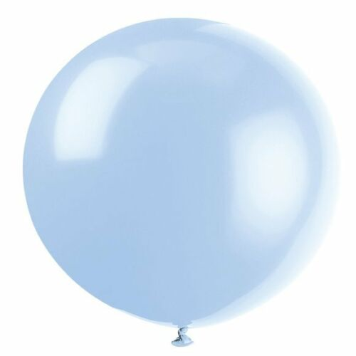 Pack of 6 Cool Blue 91 cm Latex Balloons - Party Decorations