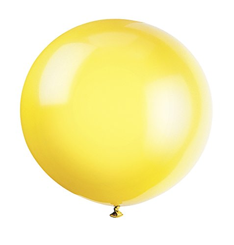Pack of 6 Lemon Yellow 91 cm Latex Balloons - Party Decorations