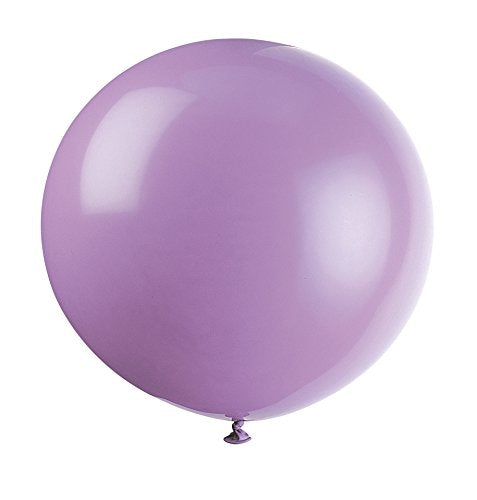 Pack of 6 Lilac Lavender 91 cm Latex Balloons - Party Decorations