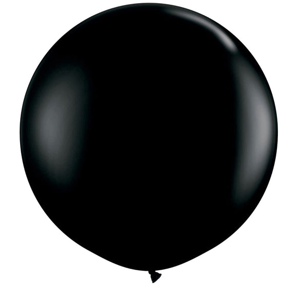 Pack of 6 Phantom Black 91 cm Latex Balloons - Party Decorations