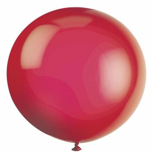 Pack of 6 Scarlet Red 91 cm Latex Balloons - Party Decorations