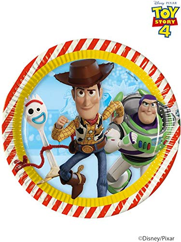 Pack of 8 Disney Pixar Toy Story 4 Paper Plates - 23 cm - Party Tableware