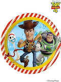 "32 Toy Story 4 Paper Plates - 23 cm (9"") in diameter."