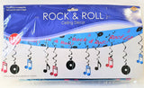 Rock and Roll Ceiling Decoration - 12ft Long - 50's Party Decorations