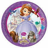 16 Sofia the First Paper Plates 23 cm (9 in) in diameter
