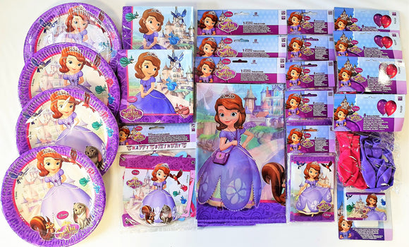 Sofia The First Party Pack for 30 People - Disney Party Tableware and Decoration