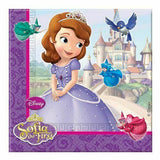 20 Sofia The First Paper Napkins 2 ply (33 cm x 33 cm)