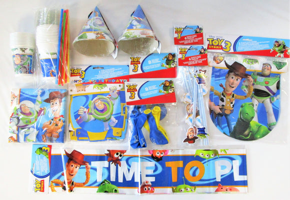Toy Story 3 Bumper Tableware Party Pack for 10 People - Cups Napkins Banners etc
