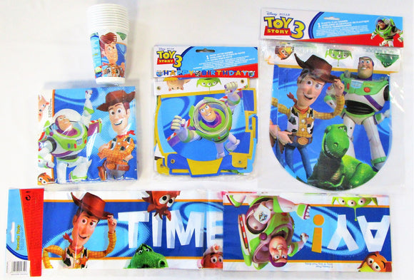 Toy Story 3 Party Tableware Pack for 10 People - Cups Napkins And Banners