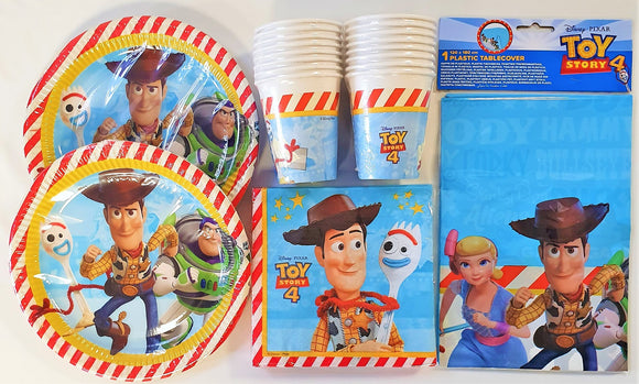 Disney Pixar Toy Story 4 Party Tableware Pack for 16 People - Plates Cups etc