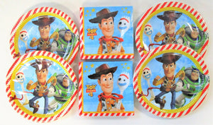 Disney Pixar Toy Story 4 Party Tableware Pack for 32 People - Plates and Napkins