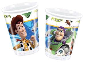Pack of 10 Disney Pixar Toy Story 3 Plastic Cups - 200 ml - Party Tableware