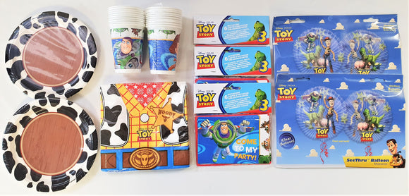 Toy Story Tableware Party Pack For 16 People - Children's Complete Party Pack