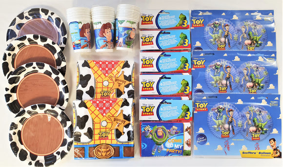 Toy Story Tableware Party Pack For 30 People - Children's Complete Party Pack
