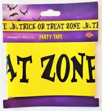 Trick or Treat Zone Party Tape Banner - 6 m 20 ft - Halloween Party Decorations