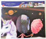 Unicorn Double Sided Photo Prop - 94 x 64 cm - Fantasy Animal Party Decorations