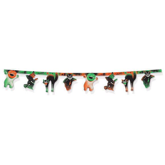 Vintage Halloween Jointed Streamer - 2.11m Banner - Hanging Party Decorations