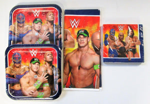WWE Wrestling Party Pack for 16 People - Plates Napkins Table Covers etc