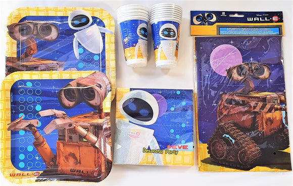Wall-E Party Pack for 16 Guests - Disney Pixar Party Tableware Plates Cups etc