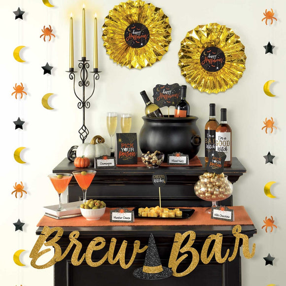 Wicked Brew Bar Decorating Kit - Happy Halloween Party Decorations