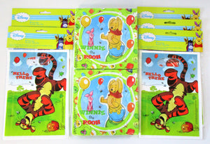 Winnie the Pooh and Piglet Party Pack for 30 People - Napkins and Party Bags