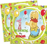 40 Winnie the Pooh and Piglet Paper Napkins 2 ply - 33 x 33 cm